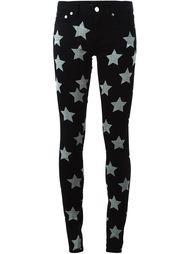 джинсы с принтом звезд Saint Laurent