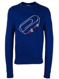 embroidered paper clip sweatshirt Carven