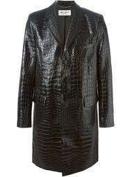пальто с эффектом крокодиловой кожи  Saint Laurent
