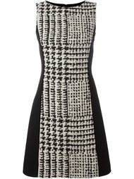 checked fitted dress Fausto Puglisi