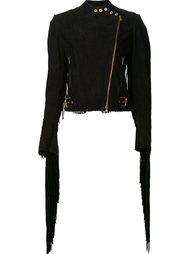 fringed biker jacket Ralph Lauren