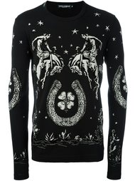 horse print sweatshirt  Dolce & Gabbana