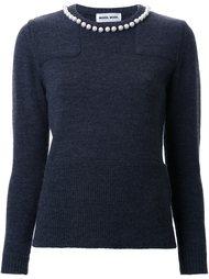 свитер с украшениями на воротнике Muveil