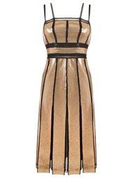 приталенное платье с пайетками Reinaldo Lourenço