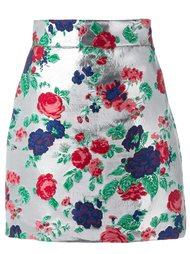 юбка с вышивкой и эффектом металлик MSGM
