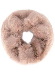 fur detail scarf Urbancode