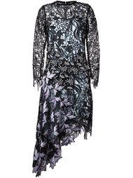платье с цветочным принтом   Self-Portrait