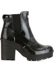 ботинки челси на массивном каблуке Hunter