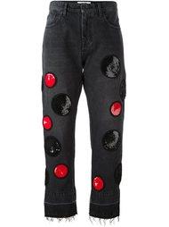 джинсы с пайетками  MSGM