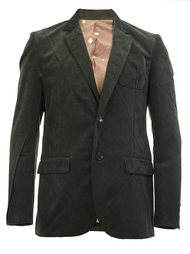 notched lapel ribbed blazer Undercover