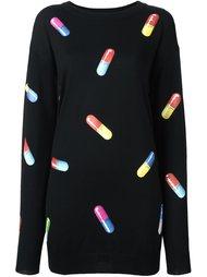 платье-свитер с принтом капсул Moschino