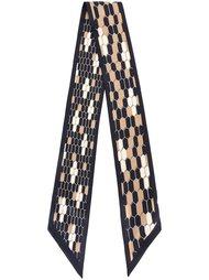 hexagon print scarf  Bulgari