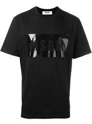 logo print T-shirt MSGM