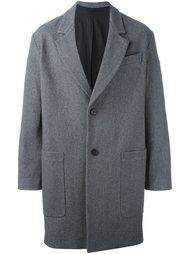 свободное пальто с накладными карманами Ami Alexandre Mattiussi