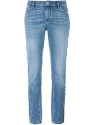 зауженные джинсы с заклепками Givenchy