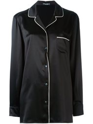 рубашка в пижамном стиле Dolce & Gabbana