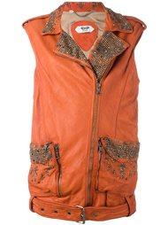 байкерская куртка без рукавов с отделкой Pihakapi