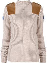 turtleneck ribbed sweater Off-White