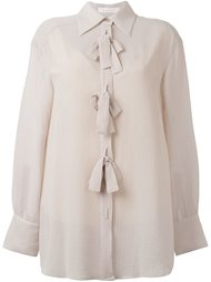 прозрачная рубашка с бантом See By Chloé