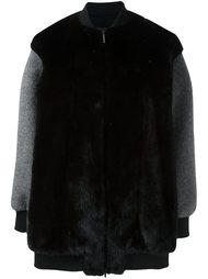 contrast sleeve coat Blancha