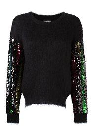 свитер с длинными рукавами с пайетками Emporio Armani