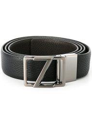dark grey hardware belt Z Zegna