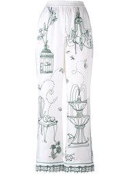 брюки в пижамном стиле Dolce & Gabbana