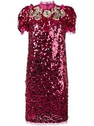 декорированное платье с пайетками Dolce & Gabbana
