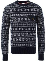 свитер с узором  Moncler Gamme Bleu