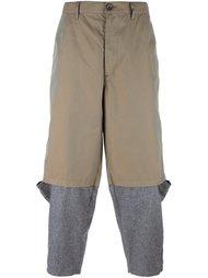 брюки прямого кроя с контрастными панелями Comme Des Garçons Shirt