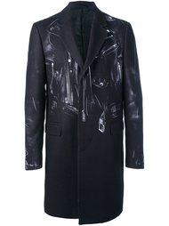 байкерское пальто Moschino