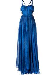 side slit long dress Maria Lucia Hohan