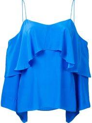cold shoulder ruffle blouse Jay Godfrey