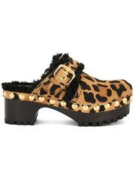 клоги с леопардовым рисунком Car Shoe