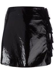 мини-юбка из искусственной лакированной кожи Kenzo