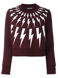 lightning bolt print sweatshirt Neil Barrett