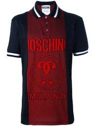 рубашка-поло с панельным дизайном и логотипом Moschino