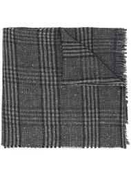 клетчатый шарф с необработанными краями Hackett