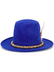 feather embellished felt hat  Nick Fouquet