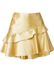 асимметричная юбка с рюшами по подолу Martha Medeiros