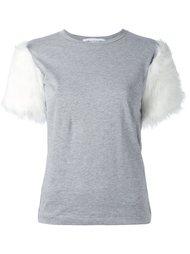 футболка с меховыми рукавами Comme Des Garçons Girl
