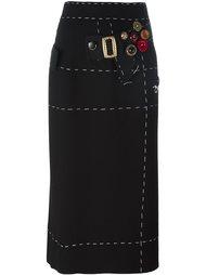 юбка-карандаш с декоративной строчкой Dolce & Gabbana