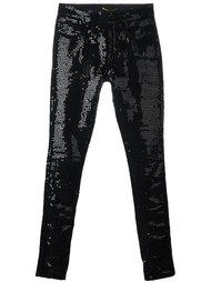 джинсы с пайетками Saint Laurent