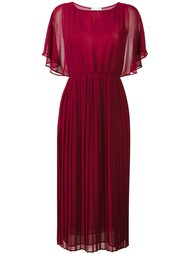 платье с оборками на рукавах Erika Cavallini