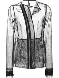 прозрачный пиджак с асимметричной застежкой-молнией Rick Owens Lilies
