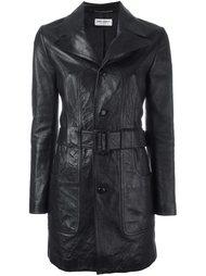 короткое кожаное пальто Saint Laurent