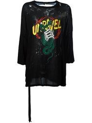 футболка с принтом Unravel