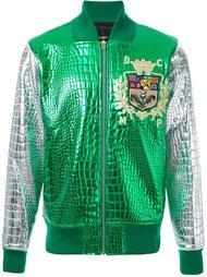 куртка бомбер с эффектом металлик и крокодиловой кожи DressCamp