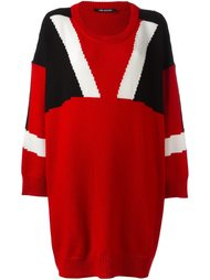 трикотажное платье дизайна колор-блок Neil Barrett