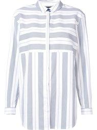contrast stripe shirt Lafayette 148